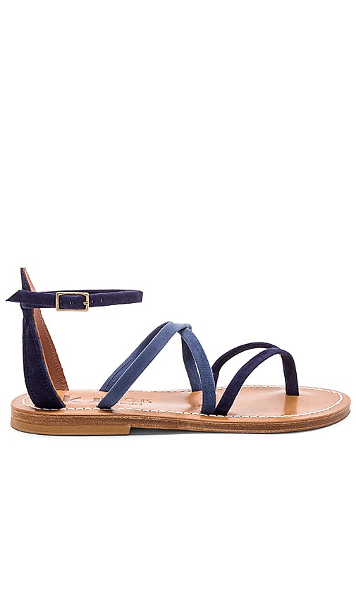 K Jacques Epicure Sandal in Navy