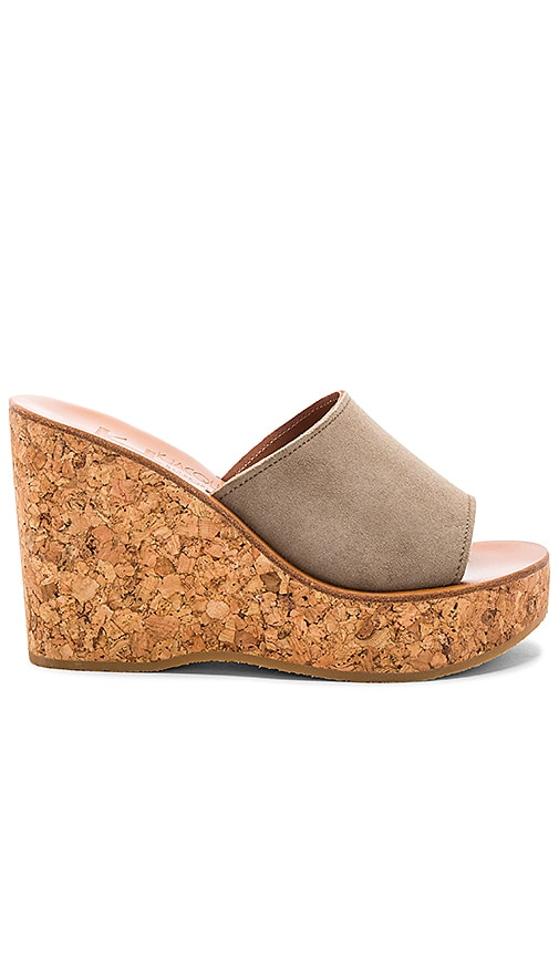 K Jacques Timor Wedge in Gray