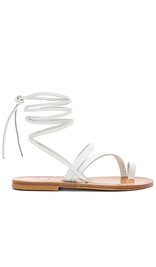K Jacques Ellada Sandal in White