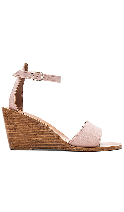 K Jacques Sardaigne Wedge in Blush