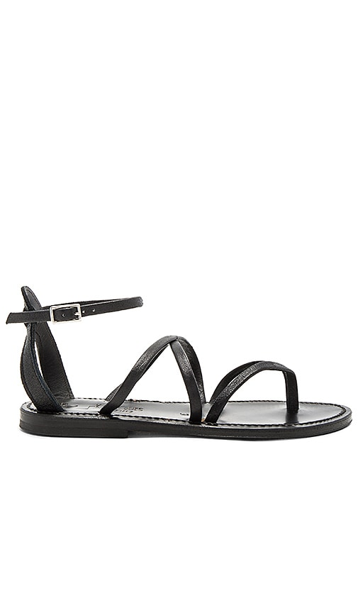 K Jacques Epicure Sandal in Black