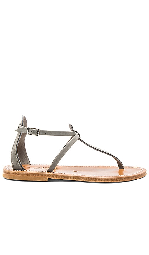 K Jacques Buffon Sandal in Gray