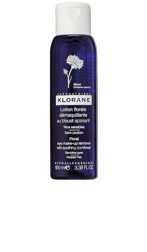 Travel Floral Eye Make-up Remover with Soothing Cornflower
