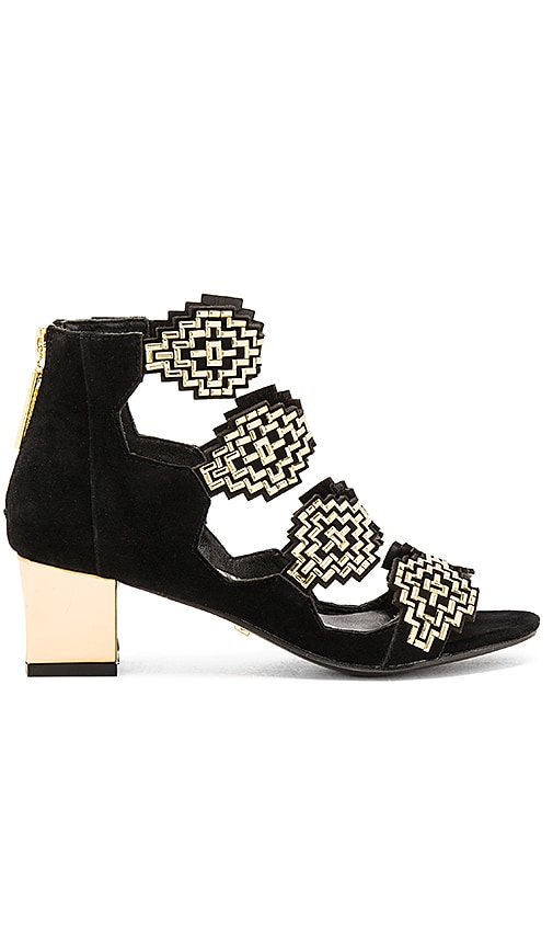 KAT MACONIE Anna Heel in Black & Gold