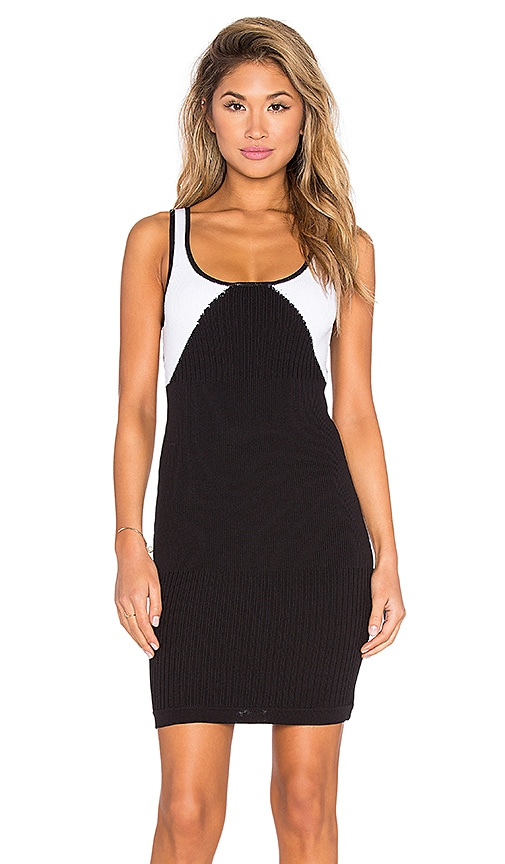 Kathryn McCarron Celia Knit Mini Dress in Black