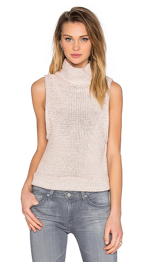 Kathryn McCarron Tilda Sleeveless Turtleneck Sweater in Cream