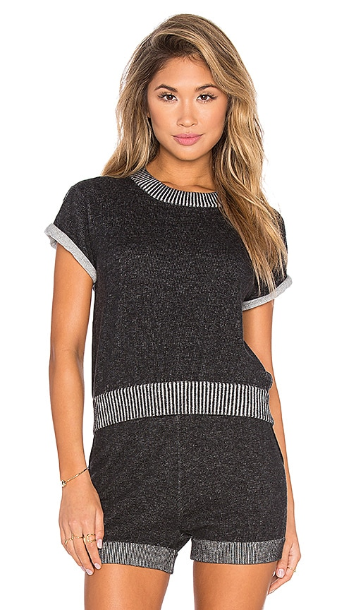 Kathryn McCarron Lou Short Sleeve Sweater in Charcoal Grey