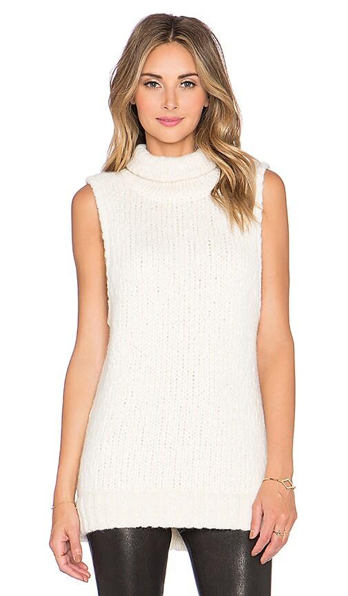 Kathryn McCarron McKenna Oversized Sleeveless Sweater in Cream