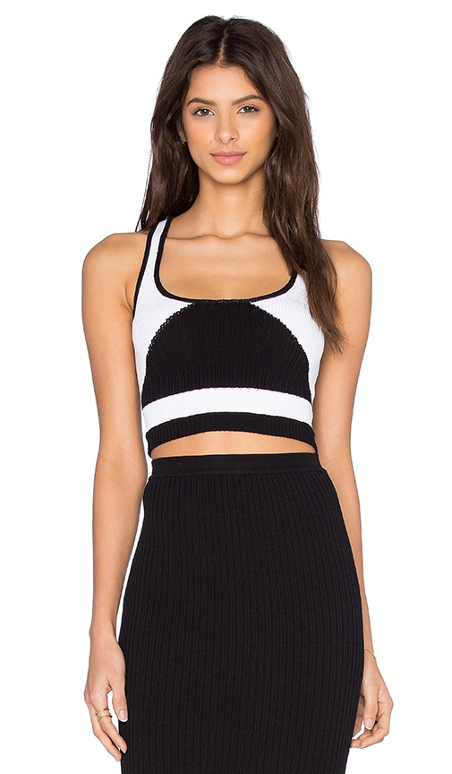 Kathryn McCarron Asha Knit Tank in Black & White