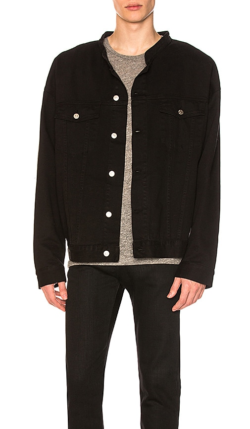 Daniel Patrick Oversized Denim Jacket in Black