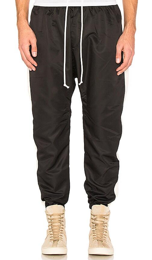 Daniel Patrick Parachute Track Pant in Black