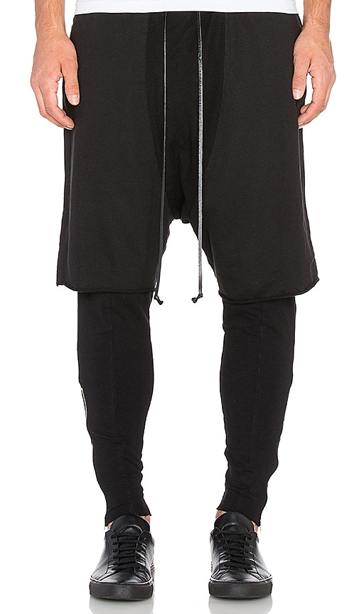 knomadik by Daniel Patrick Roaming Layered Pant in Black