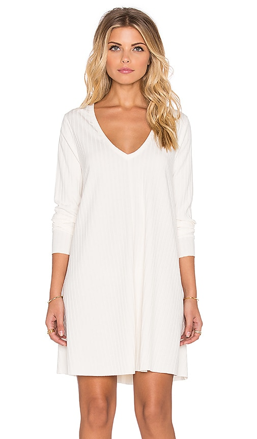 Knot Sisters Claire Mini Dress in Blanco White