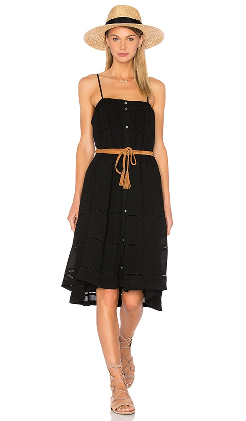 Knot Sisters Layered Cake Dress in Black
