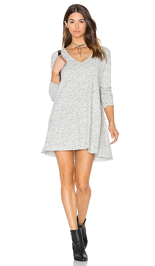 Knot Sisters Claire Dress in Light Gray