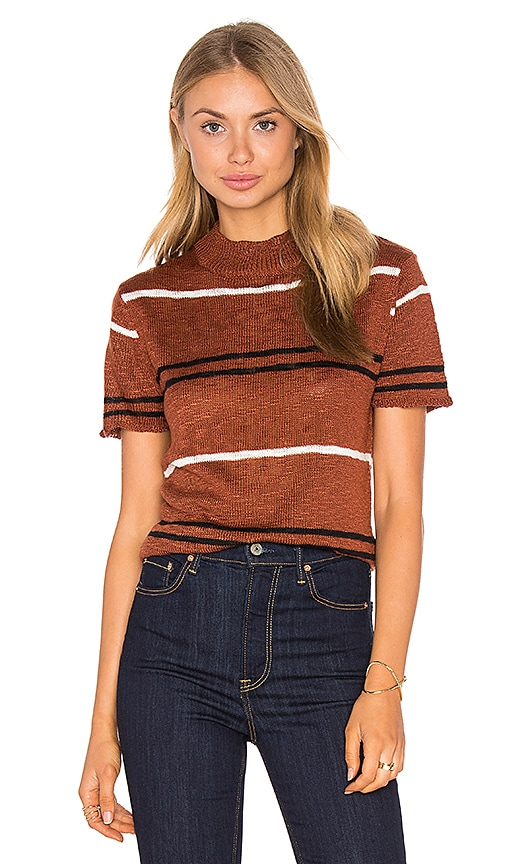 Knot Sisters Costal Sweater in Rust