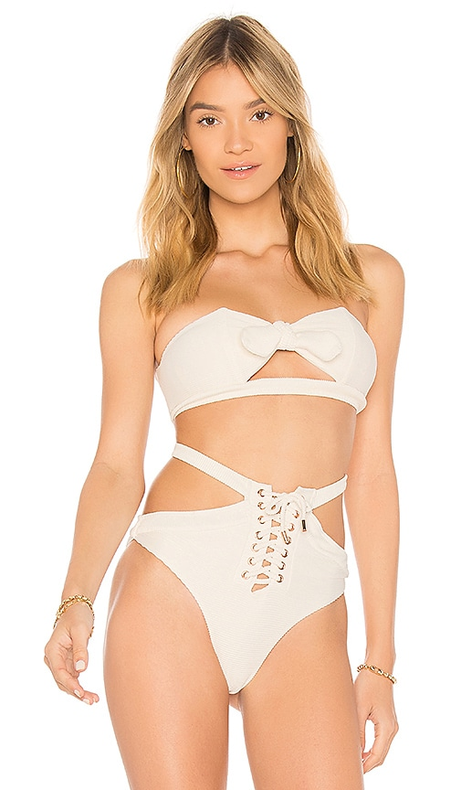 Chase Bikini Top in Cream. - size M (also in L,S,XS) Kopper & Zink