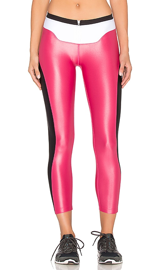 koral activewear Contour Crop Legging in Carmine & Black
