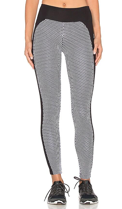 koral activewear Polarize Legging in Black & White