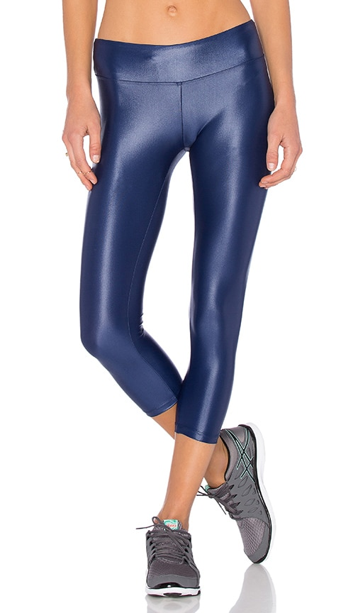 KORAL Lusturous Crop Legging in Navy