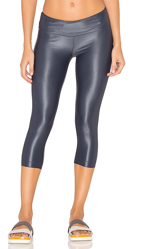KORAL Lustrous Crop Legging in Charcoal