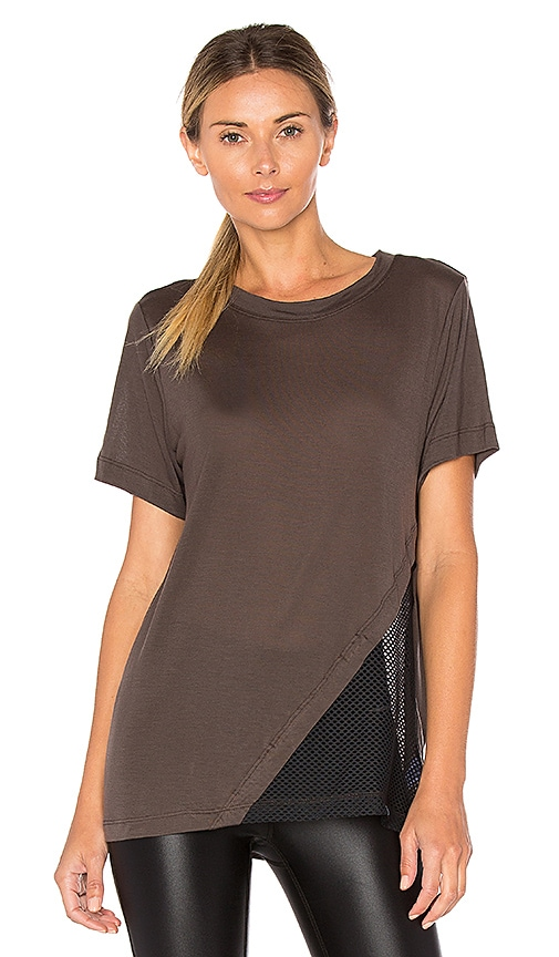 KORAL Atomic Tunic Tee in Charcoal