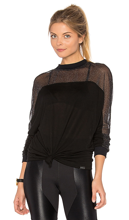 KORAL Reply Long Sleeve Top in Black