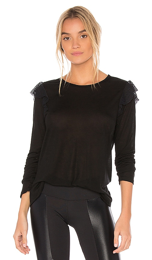 KORAL Verge Long Sleeve Top in Black