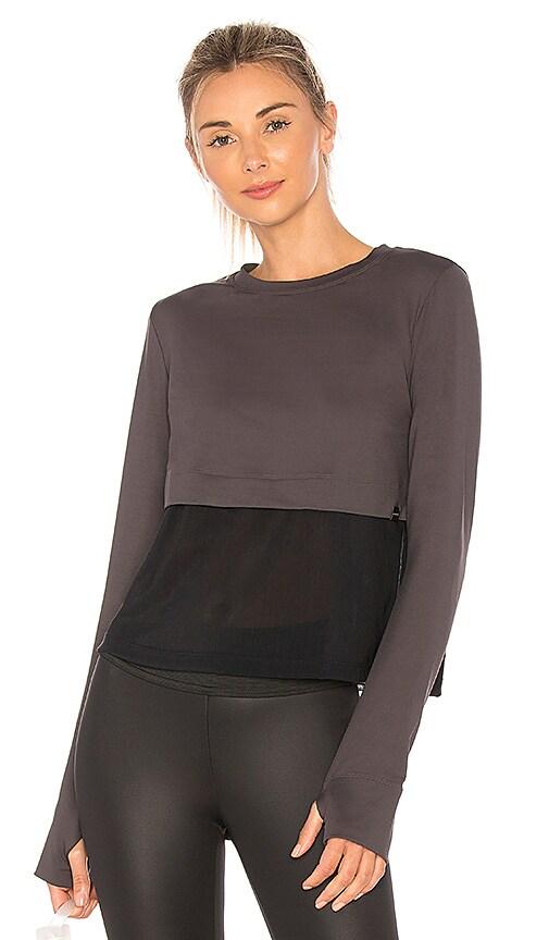 KORAL Grid Pullover in Vintage Black in Black