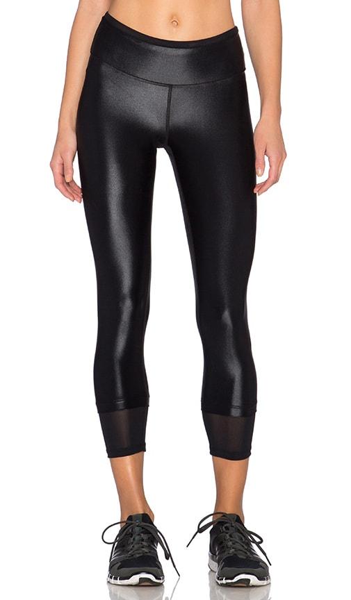 koral activewear Sky Scraper Echo Crop Legging in Black