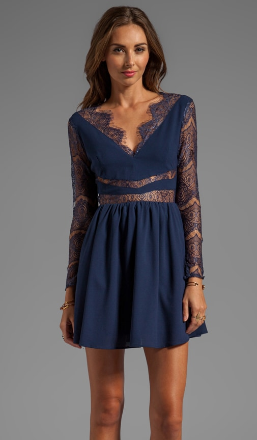 Paradise Stars Dress with Lace Detail