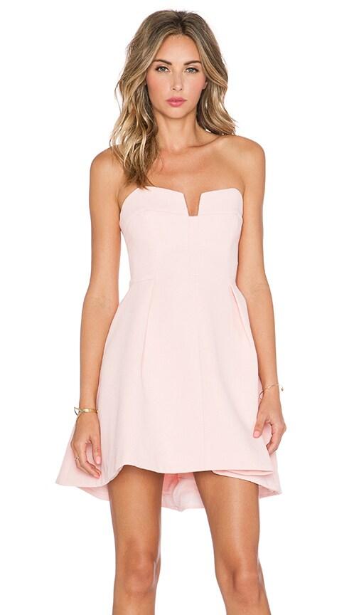 keepsake Divide Mini Dress in Pink