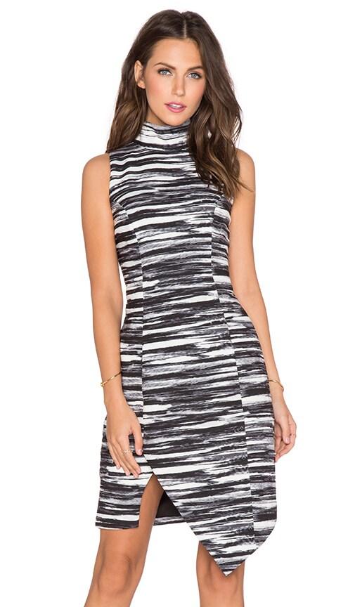 keepsake Subtract Dress in Painted Stripe