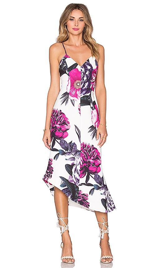 keepsake Rip Tide Dress in Dahlia Floral Print Light
