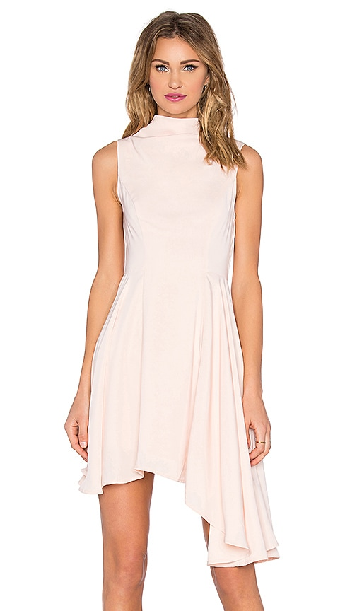 keepsake Break Even Mini Dress in Peach