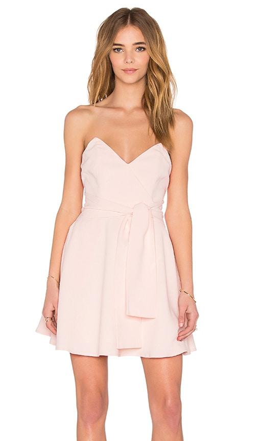keepsake Get Free Mini Dress in Blush