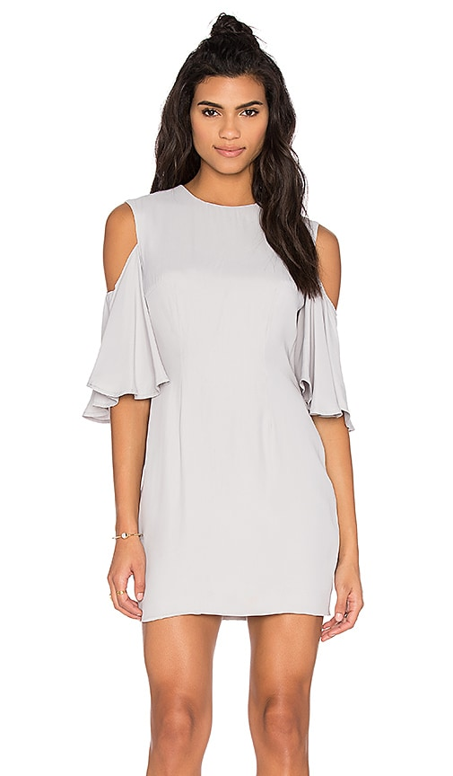 keepsake Believer Dress in Light Gray
