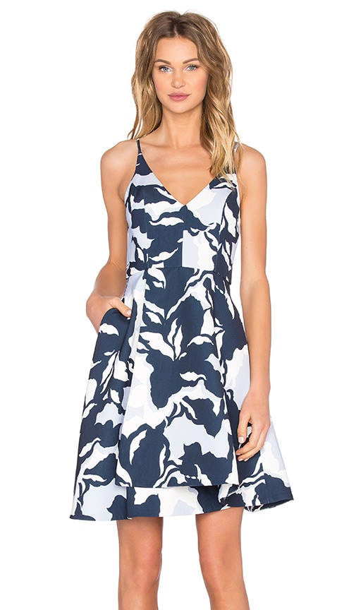 keepsake No Secrets Dress in Navy Camouflage Floral