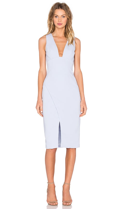 keepsake Enough Space Midi Dress in Baby Blue