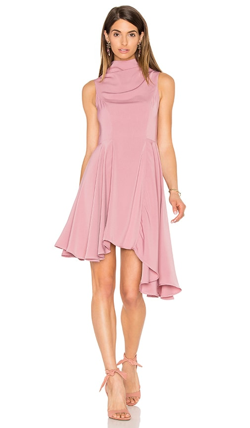 keepsake Break Even Mini Dress in Rose Pink
