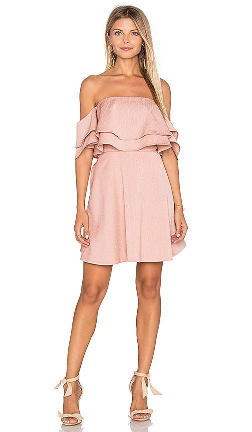 keepsake Two Fold Mini Dress in Pink