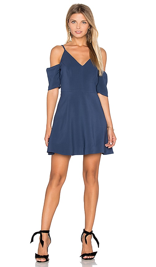 keepsake Slow Motion Mini Dress in Navy