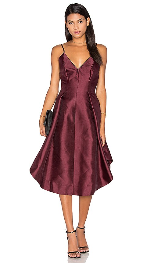 keepsake Translate Dress in Burgundy