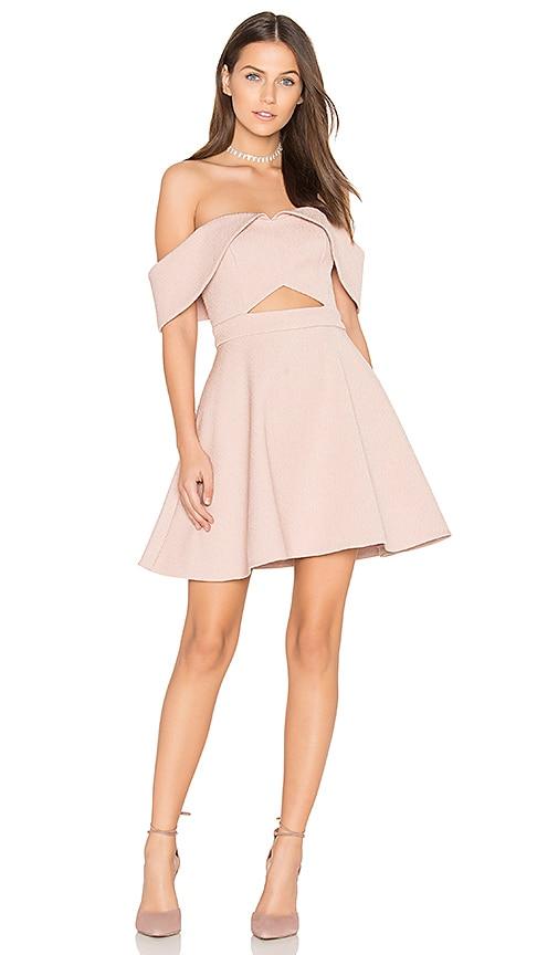 keepsake Apollo Mini Dress in Blush