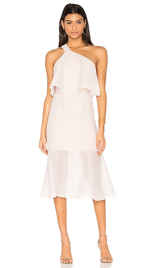 KEEPSAKE Float Midi Dress, Blush