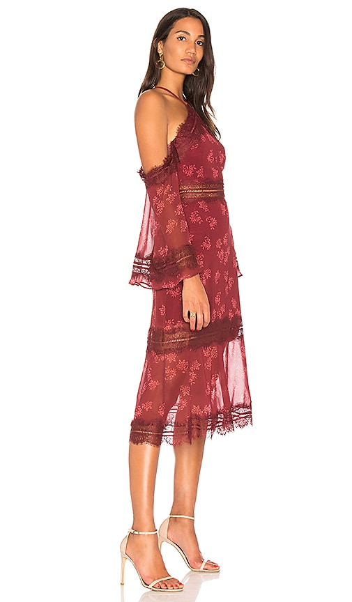 KEEPSAKE Moonlight Midi Dress - Red, Purple