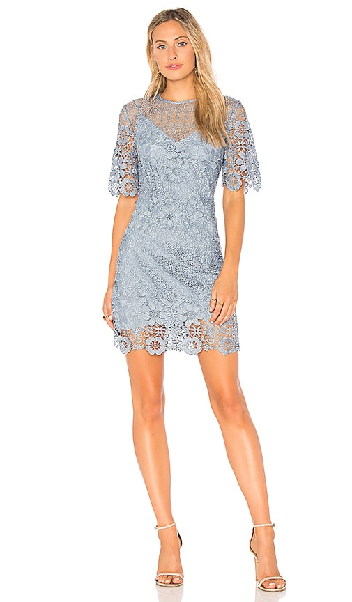 keepsake Reach Out Mini Dress in Blue