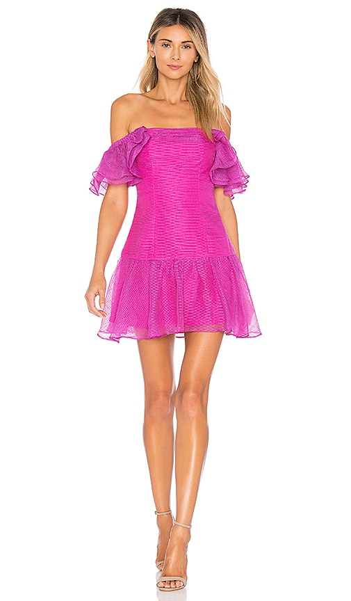 x REVOLVE Magdalena Dress in Fuchsia. - size XS (also in L,XXS)