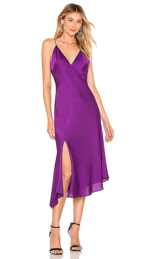 2e77bdb0c67 keepsake Infinity Midi Dress In Grape in Grape