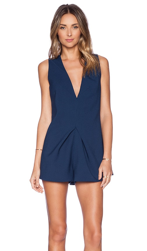 1dd6cad7558e keepsake Steal The Light Playsuit in Midnight